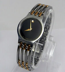 Womens Authentic Swiss Made MOVADO Esperanza Classic Stainless Two Tone Watch $160.19