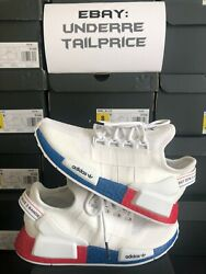 100% Authentic Adidas NMD R1 V2 White Lush Red 2020 FX4148 BRAND NEW $100.00