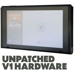 Nintendo Switch HAC 001 32GB V1 UNPATCHED Video Game Console ONLY Black $229.99