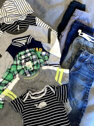 Baby Toddler Boys 9m Lot of 11 Mixed Items 5 Outifts Bodysuits Jeans Carter#x27;s $30.00