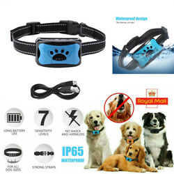Anti Bark Collar Dog Small Medium Large No Shock Beep Vibration Rechargeable NEW $16.59