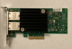 DELL Intel X550 T2 2 port 10Gb Ethernet PCIe Network Adapter HWWN0 both brackets $245.00