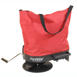 Hand Crank Fertilizer Spreader Nylon Bag Grass Seed Salt Lawn Garden Seeder 20lb $77.42