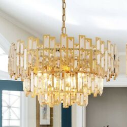 ANTILISHA Gold Chandeliers Modern Crystal 24.5quot; $239.00