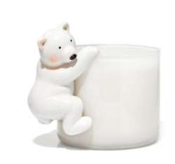 BATH amp; BODY WORKS HANGING WHITE POLAR BEAR FOR 3 WICK CANDLE HOLDER NEW $11.99