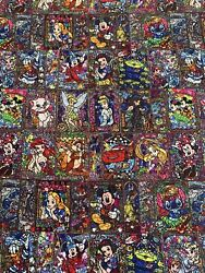100% Cotton Woven Custom Fabric Disney Mosaic Stained Glass Ready To Ship $24.99