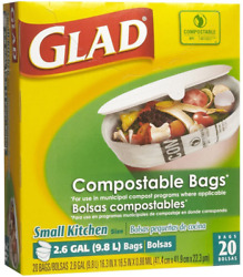 Glad Compostable Odorshield Quick Tie Small Trash Bags Fresh Clean Scent 2.6 G $27.99