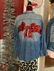 Women's UpCycled Vintage Leopard Sequin Christmas Gypsy Hippie Ooak Boho Plus $49.00