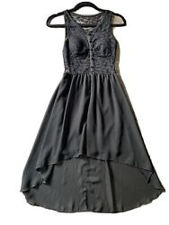 cute dresses for teens lace high low black $17.00