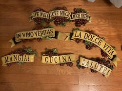 Italian Kitchen Decor Set $65.00