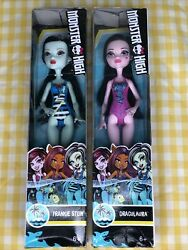 Monster High Swimsuit Edition FRANKIE STEIN amp; DRACULAURA 11quot; Dolls New in Box $12.99