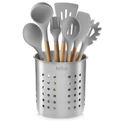 Stainless Steel Kitchen Utensil Holder Kitchen Caddy Utensil Organizer Round $12.99