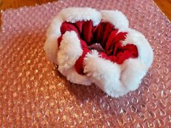 Christmas Red Velour and White Fur Small Collar with bells. Dog or Cat $8.00