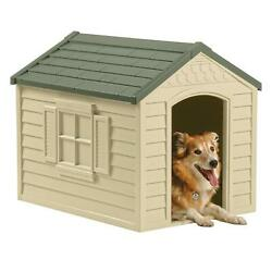Dog Pet House XXL Outdoor Large All Weather Durable Shelter Kennel Cage Vinyl Do $73.45