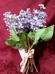 Home Interiors Silk Floral Purple Lavender Lilac Bundle New Free Shipping $15.99