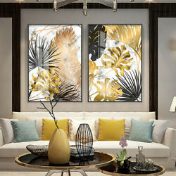 Vintage Home Decor Wall Art Picture Adornment Picture Gold Leaves Spray Painting $9.29