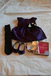 American Girl Doll purple party outfit new in the box $30.00