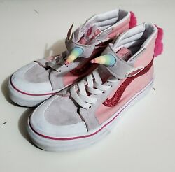 Vans Of The Wall Unicorn Pink High Top Youth Sneakers size 2.5 $25.00