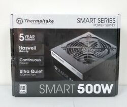 Thermaltake Smart 500W 120mm Ultra Quiet Cooling Fan Active PFC Power Supply New $47.99
