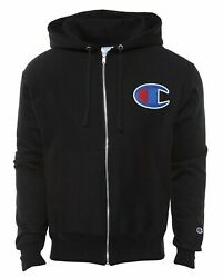 Champion Life Men's Reverse Weave Full ZIP Hoodie Black C Logo Small $26.99