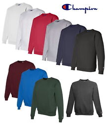 Champion Men#x27;s Crewneck Eco Fleece Pullover Sweatshirt S600 Choose Size amp; $18.95