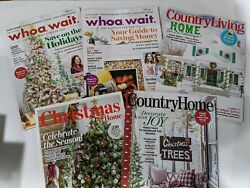 Whoa Wait Country Living Country Home Christmas at Home Magazines $25.99