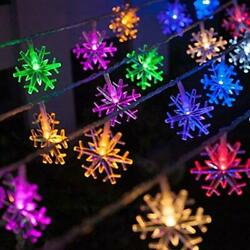 40 LED Home Festival Decoration Christmas Indoor Snowflake String Light Fairy