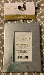 WONDERSHOP AT TARGET SILVER PICTURE FRAME HOLIDAY ORNAMENT 4.25quot; x 3.25quot; NWT $3.99