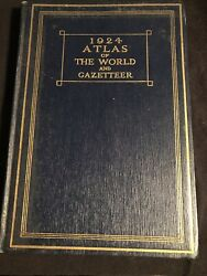1924 Atlas of the World and Gazetteer Funk amp; Wagnalls Vintage World amp; U.S. Maps $17.99