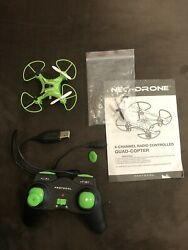 Neo Drone 4 Channel Radio Controlled Quad Copter Has Power Needs Parts Use For $2.99