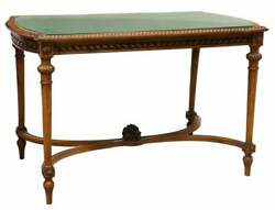 Antique Table Louis XVI Style Glass Top Walnut Salon Table Rectangle 1800s $1648.51