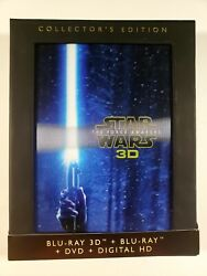 Star Wars: The Force Awakens Collector#x27;s Edition 3D 2D Blu ray DVD VGC $14.99