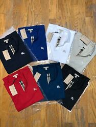 Burberry Brit men#x27;s short sleeve check placket polo shirt smlxl2xl3xl $77.00