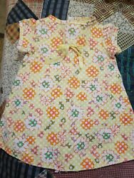 SUNNY LITTLE DRESS IN YELLOW PRINT FOR A 18 INCH DOLL $4.89