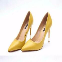 Women#x27;s Patent Leather High Heel Shoes Pointy Toe Sexy Party Shoes Black Beige $59.99