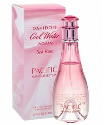 Davidoff Cool Water Sea Rose Pacific Summer For Women Perfume 3.4 oz EDT Spray $37.95