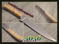 13.75quot; CUSTOM D2 STEEL HUNTINGamp;KITCHEN FULL TANG CHEF KNIFE ACRYLIC SCALE 5056 $39.99