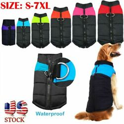 Pet Vest Jacket Warm Puppy Dog Waterproof Clothes Small Large Winter Padded Coat $7.99