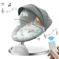 LCD bluetooth Remote Electric Rocker Baby Toddler Swing Cradle Bouncer Chair Bed $104.53