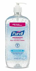 Purell Advanced Hand Sanitizer Refreshing Gel Pump Bottle 33.8 fl oz EXP 2023 ** $16.95