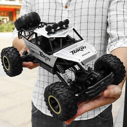 Electric RC Cars Remote Control 4WD Monster Truck Off Road Vehicle Black $41.51