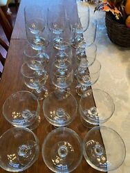 Bohemian Crystal Vintage quot;Claudiaquot; Set of 18 Water Wine amp; Champagne glasses $90.00
