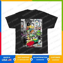 Nicktoons Hanging On Stoop Nickelodeon Classic T Shirt Black S 5XL $22.00
