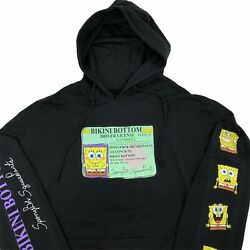 New Nickelodeon SpongeBob SquarePants Drivers License Hoodie Black Size Large $46.99