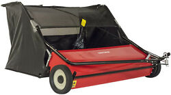 Craftsman Tow Lawn Sweeper 52 Inch 6 Brushes Black Pull Behind Lawn Leaf New $490.77