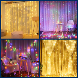 Christmas Light outdoor indoor led home curtain controller Lights 3M FOR tree