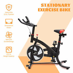 Indoor Stationary Cycling Bike Exercise Machine with Adjustable Seat amp; Handlebar $159.99