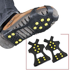 Outdoor Universal Non Slip Snow Ice Spikes Grips Cleat Winter Crampons Shoe Boot $10.99