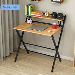 Folding Study Desk For Small Space Home Office Desk Laptop Writing Table $79.99