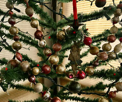 7ft Handsome EXTRA LARGE Bead Antique Glass Christmas Tree GARLAND Many 1 1 2 quot; $375.00